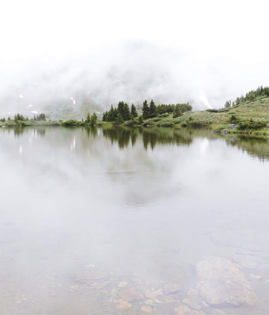 Loveland Pass Lake with Fog
